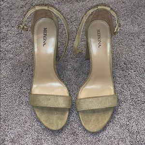 Women's Merona Light Brown 1 Inch High Heel